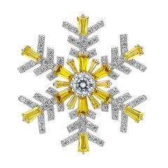 HEFANG Jewelry/何方珠宝雪花系列雪花胸针(六色可选)图片