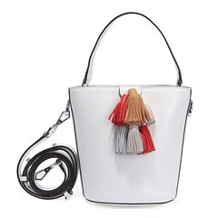Rebecca Minkoff/瑞贝卡·明可弗 女士白色牛皮水桶手提包单肩包 HSP7ESOU18图片