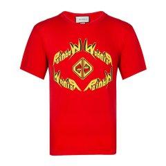 【包邮包税】Gucci 古驰 20春夏 男装 服饰 棉质时尚休闲圆领半袖 男士短袖T恤图片