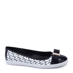 Salvatore Ferragamo/菲拉格慕牛皮材质时尚印花女士平跟鞋图片