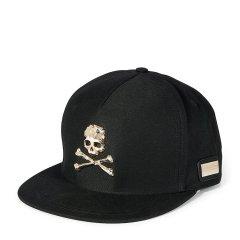 【18春夏】PHILIPP PLEIN/菲利普·普兰 骷髅头经典标志黑色棒球/鸭舌帽图片