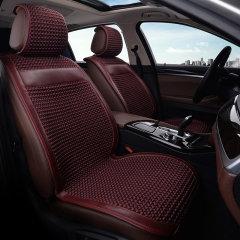 pinganzhe 汽车新款通用夏季冰丝加牛皮座垫 汽车夏季冰丝凉垫 汽车夏季凉垫图片