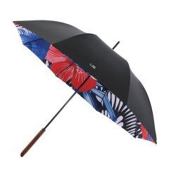 MISS RAIN/MISS RAIN 雨伞新品 枫木手柄双层伞布长柄伞半自动直杆伞男女 自然系列 蓝焰与红鹤图片