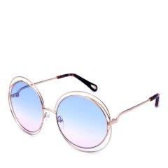 CHLOE/克洛伊 太阳镜CE114SD女士圆框复古墨镜 时尚落空设计太阳眼镜(镜脚可配链子挂饰)图片