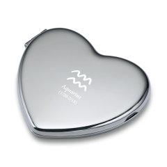德国PHILIPPI 金属十二星座心形化妆镜 送女士 创意礼品 193280 原版光面图片