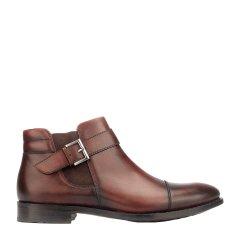 Quarvif/Quarvif 男式手工皮鞋 搭扣切尔西松紧款男士短靴 QMG75591图片