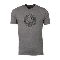 Marmot/土拨鼠春夏新款户外透气圆领吸湿排汗男式短袖T恤 S54880   吸湿排汗 针织面料 丝网印字Logo图片