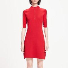 MO&Co./摩安珂女士连衣裙2019春季新品撞色拼接罗纹拉链立领连衣裙MAI1DRS026图片