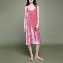 nacasa/nacasa 女睡衣/家居服真丝丝绒吊带裙图片