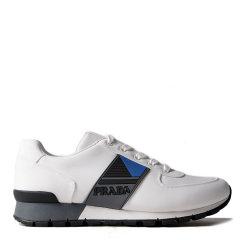 【18秋冬】 PRADA/普拉达 聚酰胺 44%锦纶 44%涤纶 12%PU 时尚 舒适 灰色 休闲运动鞋 3032图片