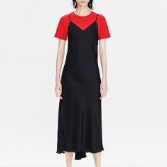 MO&Co./摩安珂女士连衣裙2019春季新品真丝不规则裙摆吊带连衣裙MAI1DRS012图片