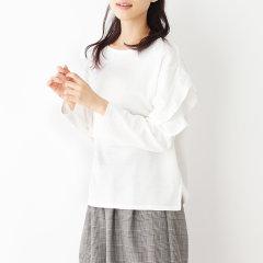 HusHusH/HusHusH 女士日韩风双层嵌花边长袖T恤51113262图片