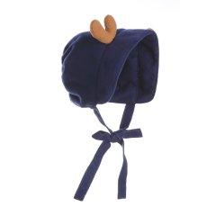 Hanakimi t婴儿胎帽儿童帽羊毛满月宝宝保暖挡风帽鹿角卖萌帽子KM085图片