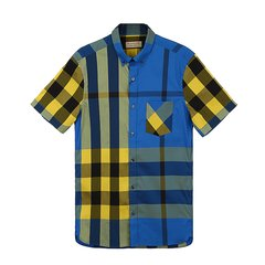 【18春夏】BURBERRY/博柏利 男士 深蓝 棉/锦纶/氨纶 男士短袖衬衫 4045837图片