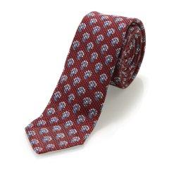 【19春夏】BURBERRY/博柏利  酒红印花镂空男士领带