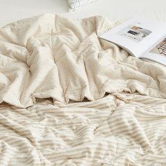 DAPU/大朴 色织棉麻薄被 空调被 双人夏被 可水洗被子 被芯 透气柔软1.5米/1.8米床适用图片