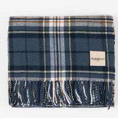 Morris&Co.羊绒空调搭毯 英伦格子披肩 盖毯(蓝/红)|英国百年设计品牌 深红色图片