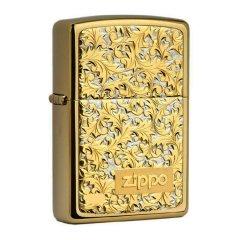 原装ZIPPO打火机 镀金纯银富贵唐草K-7 K-8图片