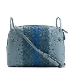 Bottega Veneta/葆蝶家  女士粉色/浅蓝色编织牛皮单肩包 BV387063VCEJ0图片