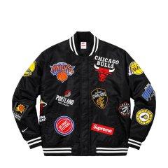 【18联名新款】三方联名系列 NikeLab x Supreme NBA teams warm up jacket 缎料热身运动夹克图片