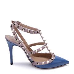 Valentino/华伦天奴 ROCKSTUD系列牛漆皮材质经典铆钉装饰女士凉/拖鞋图片