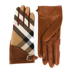 BURBERRY/博柏利 18款时尚经典黑色/棕色羊皮手套  3975671ABDYQ00100/21130图片
