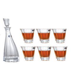 BOHEMIA Crystal捷克进口波希米亚水晶玻璃威士忌杯水杯酒杯酒具7件套组合套装图片