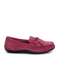 COZY STEPS/COZY STEPS 牛皮+羊皮毛一体豆豆鞋平跟鞋图片