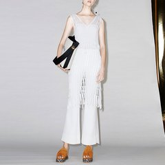 MO&Co.edition/MO&Co.edition镂空毛织裙夏深V领中长款两件套流苏EA172DRS304moco 女士连衣裙图片