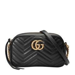 GUCCI/古驰  /GG Marmont系列 女士牛皮绗缝GG金色徽标时尚单肩斜挎包 447632-DTD1T图片