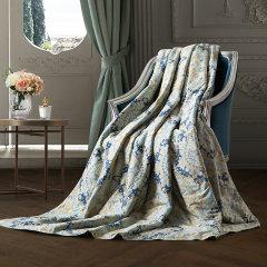罗卡芙复古风全棉亲肤可水洗空调被伊芙蕾亚亲水夏被图片
