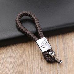 pinganzhe 沃尔沃专用汽车新款带车标钥匙扣 手编织真牛皮钥匙链 钥匙圈锁匙环 男士女士 创意 汽车用品图片