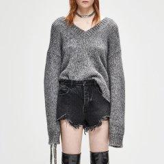 MO&Co./摩安珂女士针织衫/毛衣MOCO2018冬季新品性感V领羊毛毛衣MA184SWT326图片