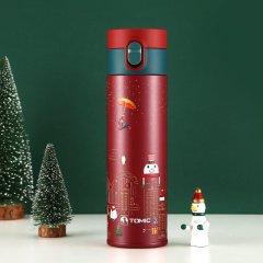 特美刻2018新款食品级316不锈钢圣诞系列保温杯420ml图片