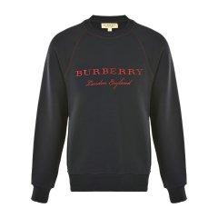 BURBERRY/博柏利  男士纯色字母刺绣套头卫衣 4055805NAVYS图片
