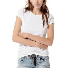 【包税】TOMMY HILFIGER/唐美.希绯格  女士经典纯色休闲圆领短袖T恤 RM11523032图片