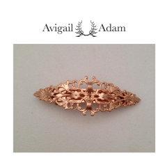 Avigail Adam美国纽约手工制造艺术风格首饰品牌女式Medium系列橄榄型珍珠中弹簧夹Medium Marquis Barette图片