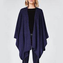 【经典美国设计师品牌】Nicole Miller/妮可.米勒 18秋冬 100%羊绒披肩/斗篷 藏蓝色(多色可选)图片