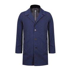 BURBERRY/博柏利 男士大衣 深蓝色内里可拆卸羽绒男士大衣图片