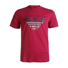 ARMANIJEANS/阿玛尼牛仔 男士T恤-TOKYO系列玫红色纯棉圆领-男士短袖T恤 3Y6T356JPFZ图片