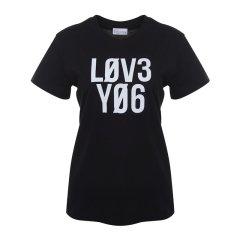 Red Valentino/Red Valentino      字母logo圆领女士短袖T恤 QROMG10E 47B 0N0图片
