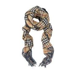 【包税】【18秋冬】BURBERRY/博柏利Vintage 女士羊绒穗边围巾/披肩围巾 4060423图片
