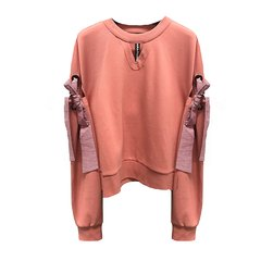 【DesignerWomenswear】HUAJIASTUDIO/HUAJIASTUDIO女卫衣18春夏新品蝴蝶结装饰卫衣原创设计师品牌专柜同款图片