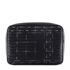 【17年秋冬】 Bottega Veneta/葆蝶家 男士 羊皮 S 编织纹理 黑色 S图片
