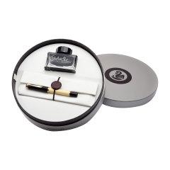 Pelikan百利金 传统系列 M200 24K镀金笔尖 树脂笔身墨水笔活 钢笔套装礼盒图片