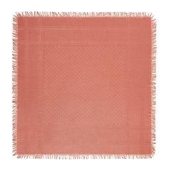 GUCCI/古驰 女士粉红色提花羊毛真丝混纺丝巾围巾围脖 201494-3G869-5900