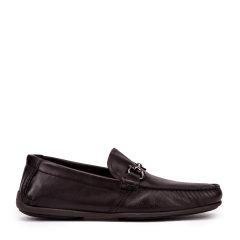 Salvatore Ferragamo/菲拉格慕牛皮材质金属logo装饰男士方头休闲鞋图片