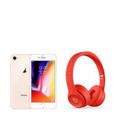 IPHONE 8 金色 256GB 配beats 头戴压耳式蓝牙耳机 solo3 wireless图片