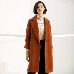 TATU/她图双面羊绒大衣女森系毛呢外套韩版宽松显瘦百搭呢子潮女士大衣图片