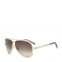 CHLOE/克洛伊 太阳镜 CE121S女士时尚镂空金属框墨镜 海报款明星董洁同款眼镜图片